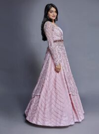 Nivedita Saboo Couture - Lightness - The Pink Flourish - Side